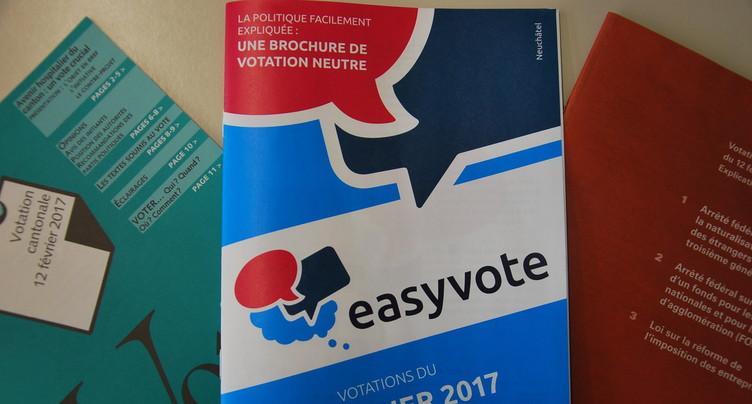 Une brochure pour encourager les jeunes à voter