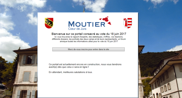 Un site internet suspect sur la votation à Moutier