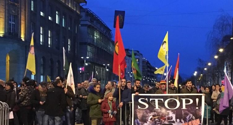Les kurdes de Bienne manifestent