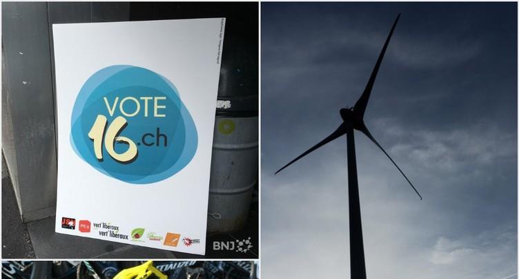 Vote à 16 ans, Stratégie énergétique 2050 et cyclisme