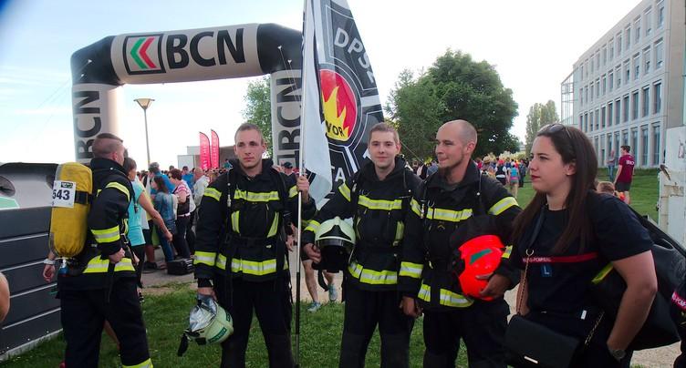Des pompiers volontaires au BCN Tour