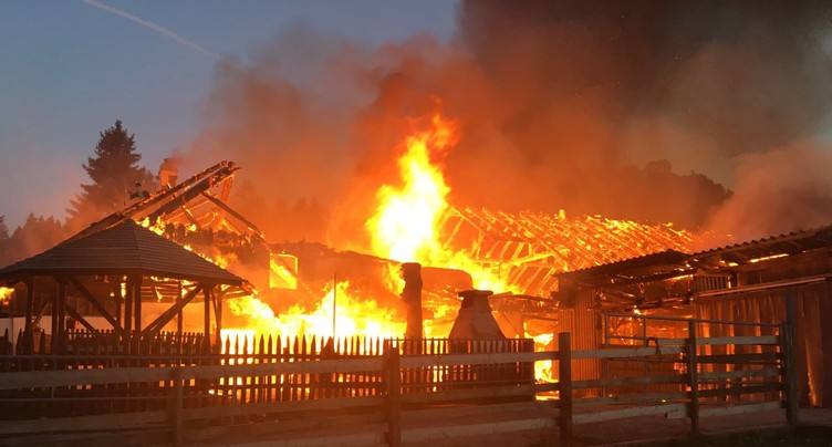 Incendie à La Heutte provoqué par un feu de cheminée