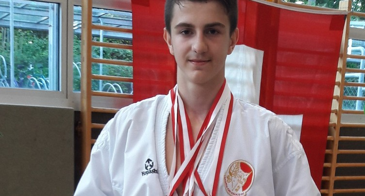 Double podium pour Arben Pjetraj en Swiss Karate League
