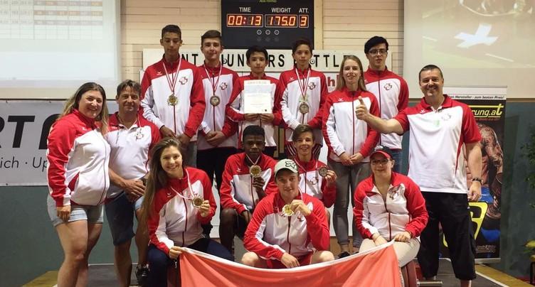 Huit médailles pour la relève de l'haltérophilie