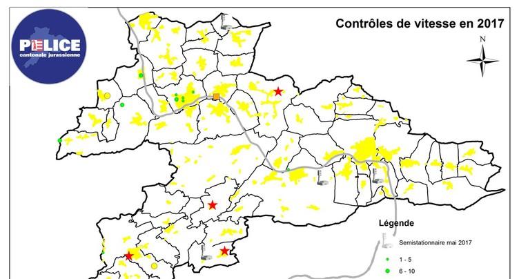 Les radars jurassiens ont flashé en mai