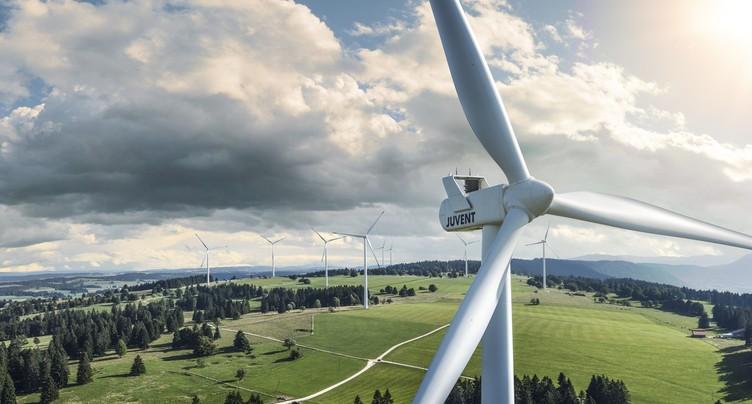 7e phase de construction achevée pour la centrale éolienne