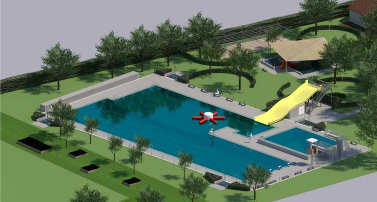 La piscine en plein air fait le plein