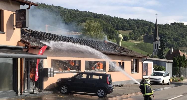 Incendie à Cressier