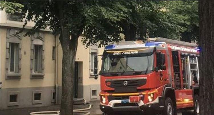 Combles en feu à Bienne