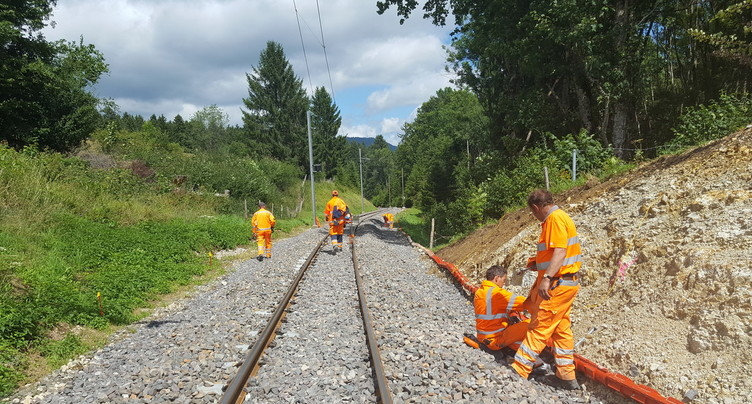 Les Chemins de fer du Jura s'activent à Tavannes