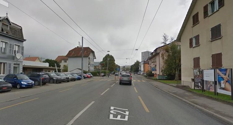Cycliste héliporté à Bienne