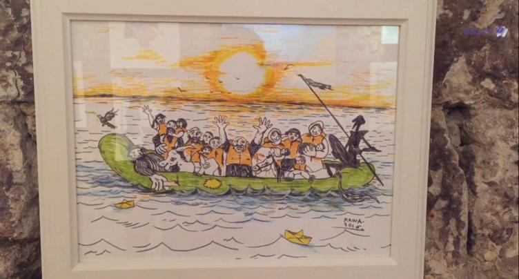 Créations d'artistes réfugiés