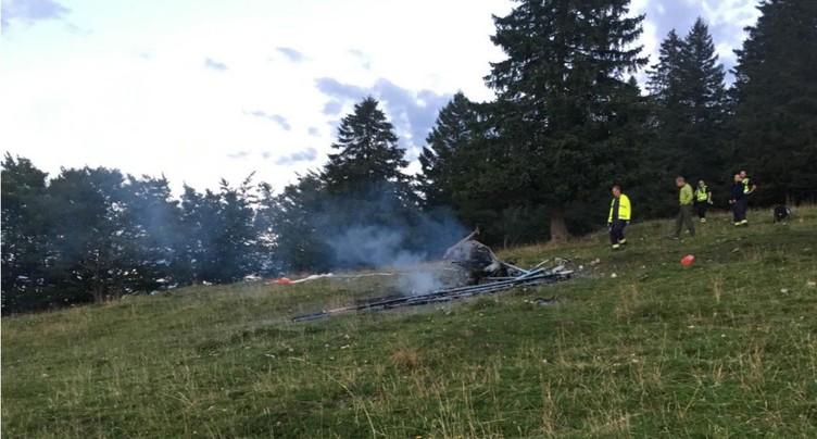 Deux morts dans un crash au Soliat