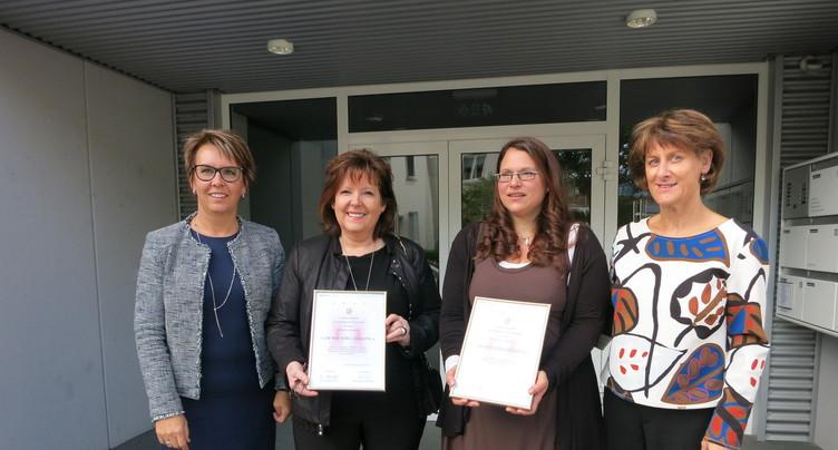 Deux lauréates pour le prix 2017 « Un pas vers l'égalité »