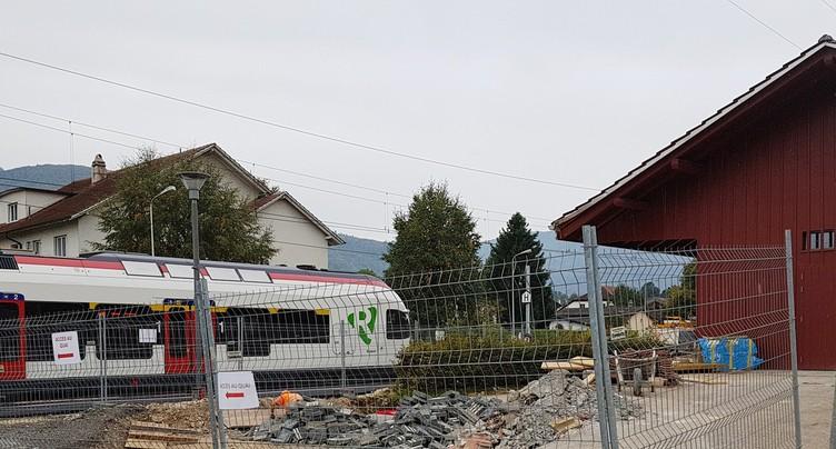 Accès au train rendu difficile à Bassecourt