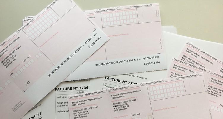 Envoi des bordeaux de l'impôt fédéral