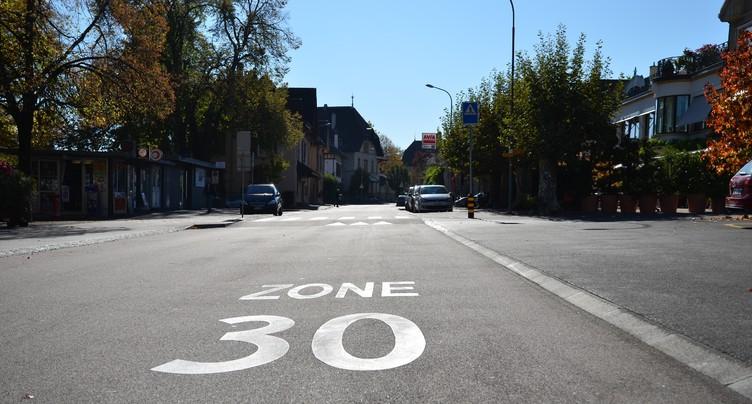 Les zones 30 ne seront pas bannies des routes cantonales