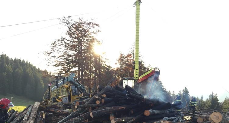 Début d'incendie sur la montagne de Montoz