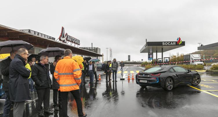 Electromobilité : Perles accueille la plus grande station de recharge du canton