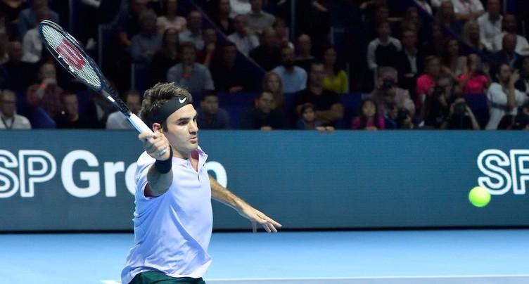 Roger Federer en quarts de finale