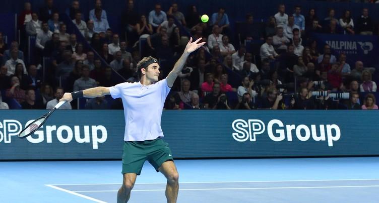 Facile pour Roger Federer