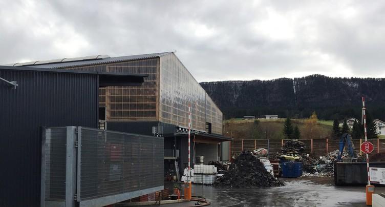 Incendie chez Fischer Recycling