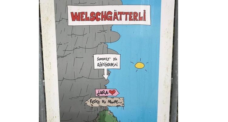 Un panneau de la discorde entre Soleure et le Jura