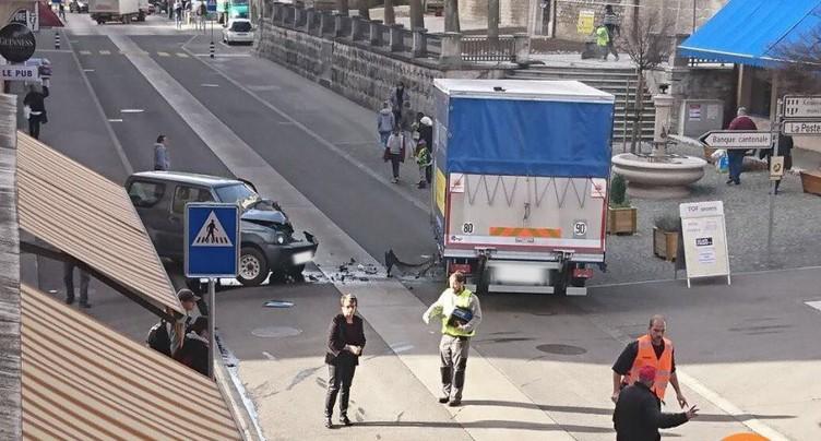 Un blessé dans une collision à St-Imier