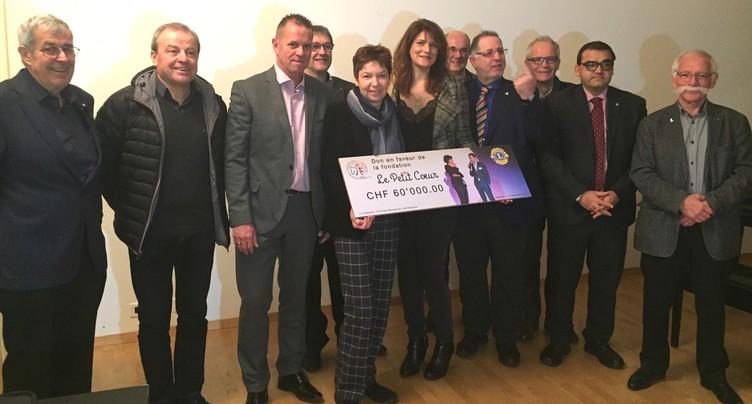 Un chèque de 60'000 francs pour « Le Petit Cœur » de René Prêtre