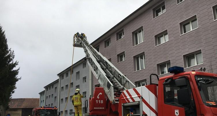 Evacuation d'un immeuble à la suite d'un sinistre