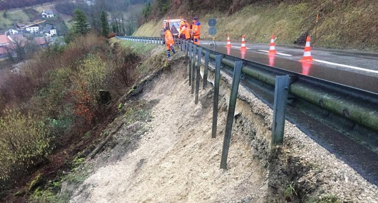 Important glissement de terrain dans le Clos du Doubs
