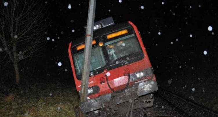 Moutier-Soleure: pas de train jusqu'à samedi