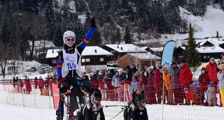 Séverine Boillat est championne nationale de chiens de traîneau