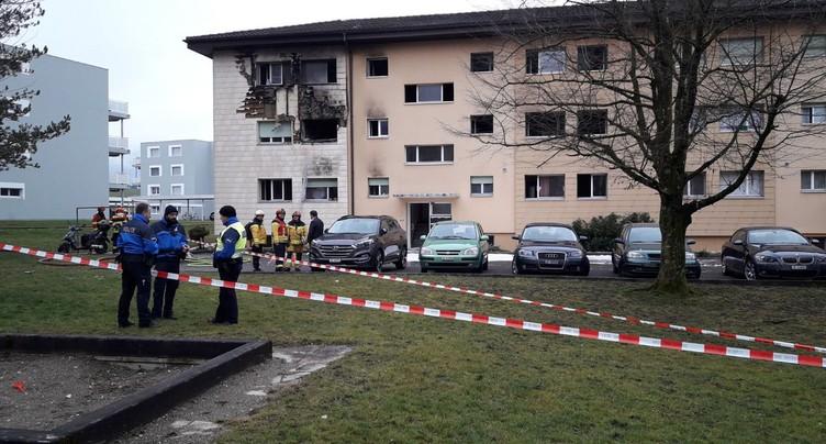 Un immeuble a été la proie des flammes à Delémont