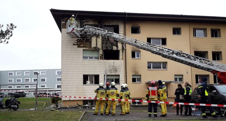 Une explosion provoque un incendie mortel à Delémont