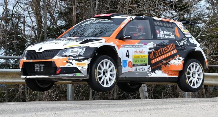 Michaël Burri au pied du podium au Tessin