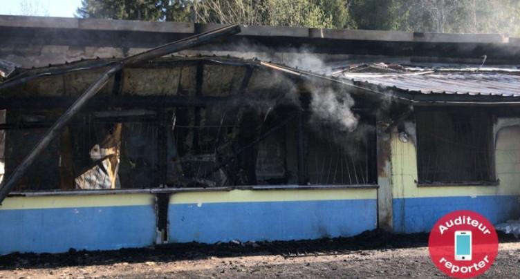 Incendie de Dombresson : les dégâts en images