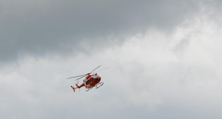 Motard héliporté à Crémines