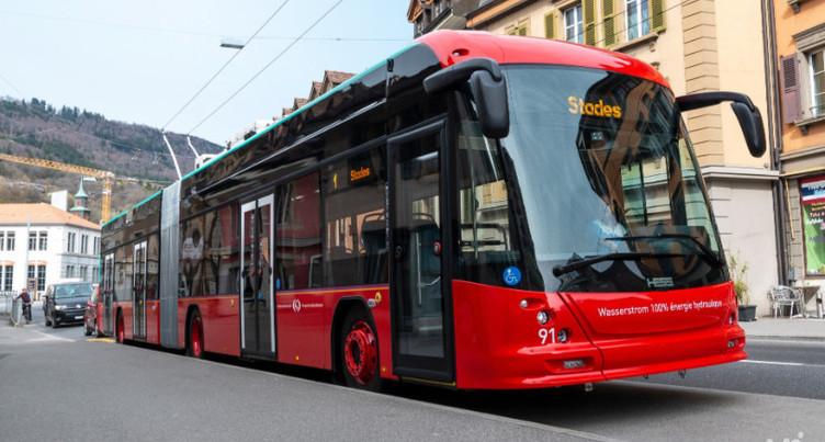 Dix nouveaux trolleybus entièrement électriques pour Bienne