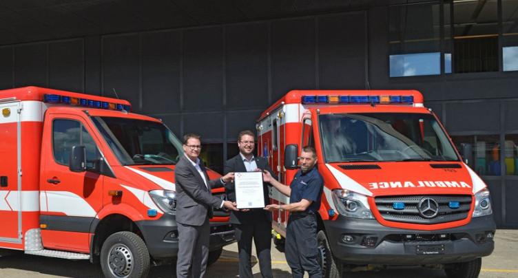 Deux nouvelles ambulances pour le SISMN