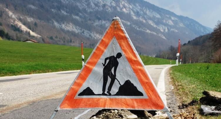 Fermeture de la route de Mont-Soleil