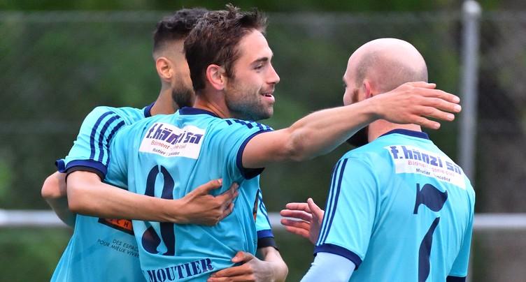 Le FC Moutier gagne et fait un bond au classement
