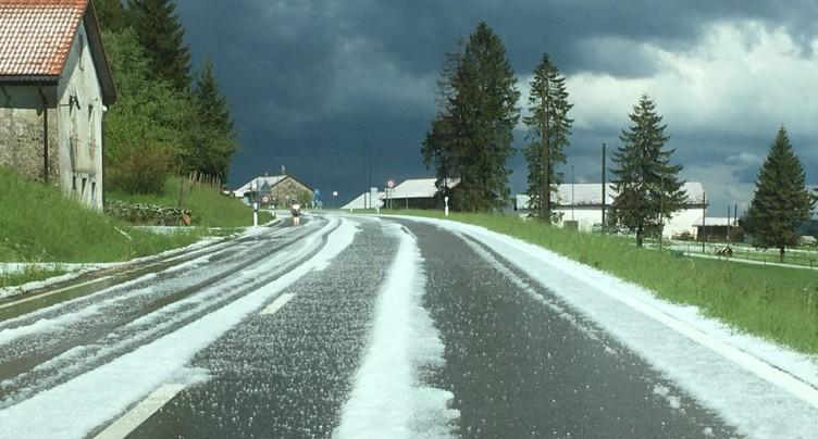 Un violent orage de grêle sur la région