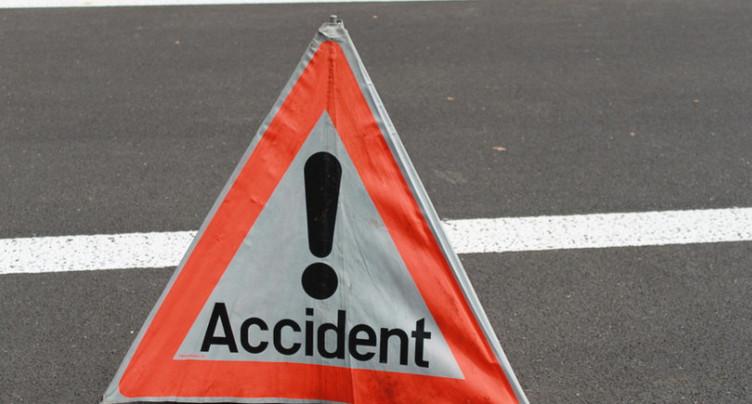 Collision entre trois véhicules à La Cibourg
