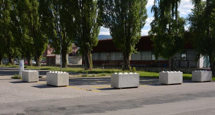 Blocs en béton au Comptoir de Delémont : le retour