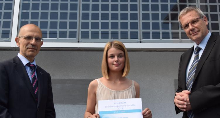 Une élève du CPLN récompensée par le CSEM