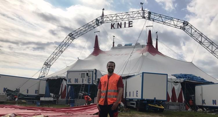 Le cirque Knie s'est installé à Delémont