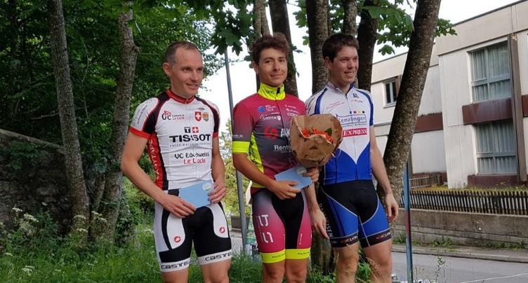 Justin Paroz victorieux lors de la troisième manche du trophée des montagnes