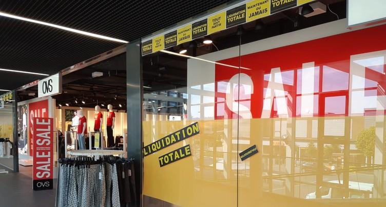OVS ferme ses magasins dans la région