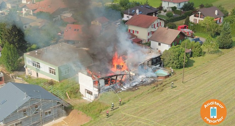 Incendie à Grandval : la cause restera inconnue